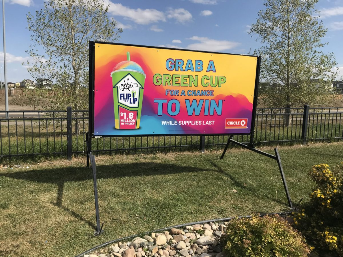 Full color printed portable rental sign
