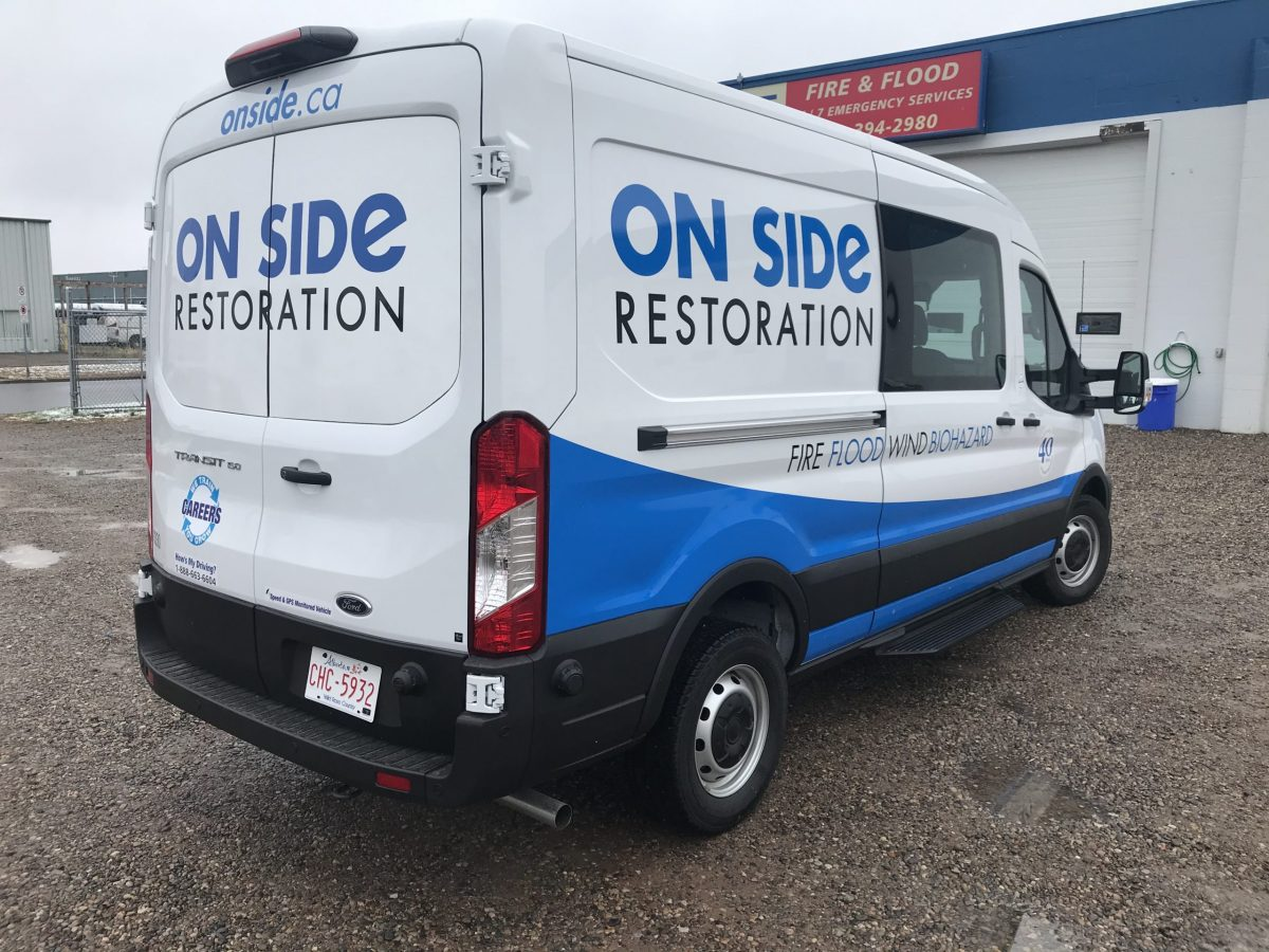 On Side Restoration Vehicle Graphics