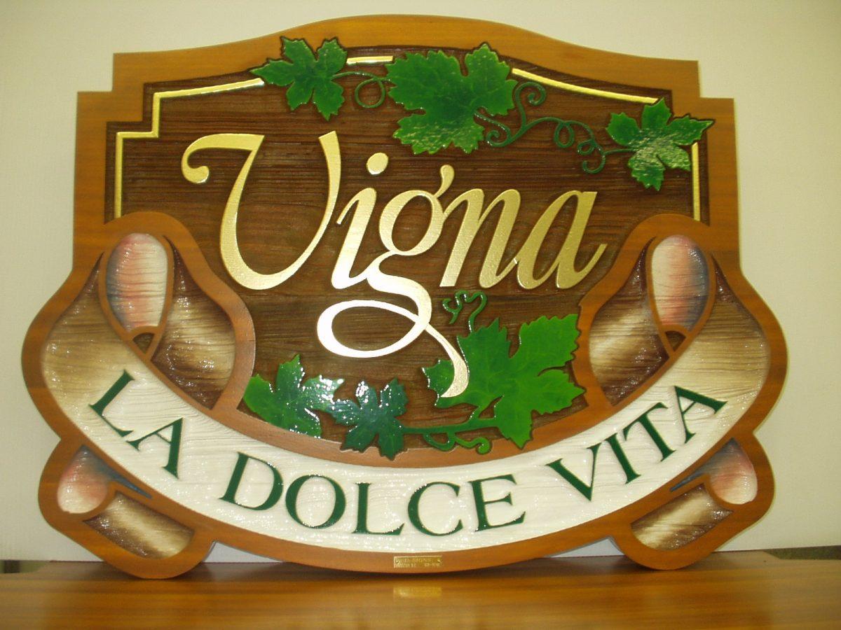 Vigna Cedar Sign