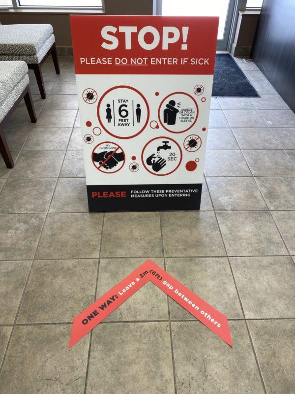 Coroplast Sandwich Sign