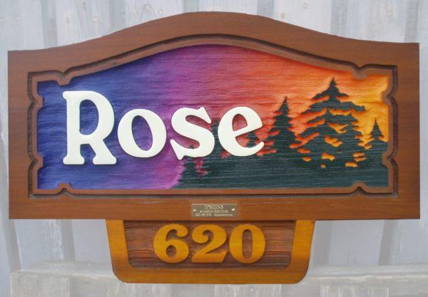 Sandblasted Cedar Sign